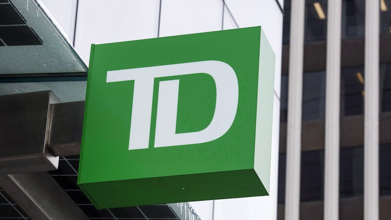 A TD Bank branch is seen in Halifax on Thursday, March 30, 2017. THE CANADIAN PRESS/Andrew Vaughan