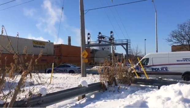 Freight train collides with sidewalk plow near Colborne and York, killing operator