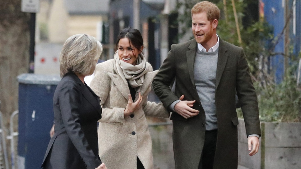Prince Harry and Meghan Markle in Brixton