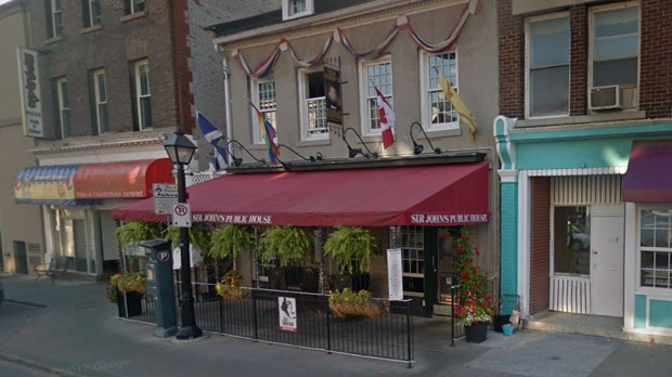 "The Scottish pub in Kingston, Ont., once known as ""Sir John's Public House,"" will now be called ""The Public House."" (Google Street View)"