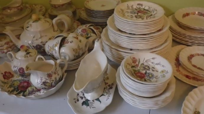This unique China set was among a number of items stolen from a home in Sydney River, N.S. on Jan. 7, 2018.