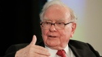 In this Oct. 3, 2017, file photo, investor Warren Buffett gestures on stage during a conversation with CNBC's Becky Quick, at a national conference sponsored by the Purpose Built Communities group that Buffett supports, in Omaha, Neb. (AP Photo / Nati Harnik, File)