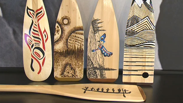It Takes a Village, on January 17, features a live auction of a number of paddles that have been painted by local and First Nations artists.