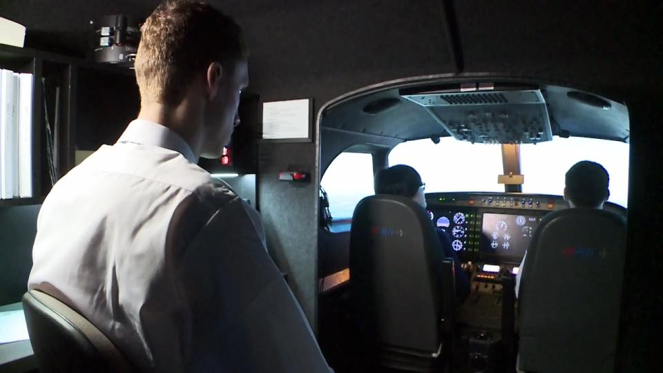 Budding pilots train at the Waterloo Wellington Flight Centre on Wednesday, Jan. 10, 2018.