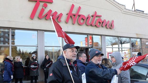 e196e4733af Tim Hortons face protests after minimum wage hike