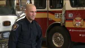 Firefighter moonlights as goalie for Canadiens
