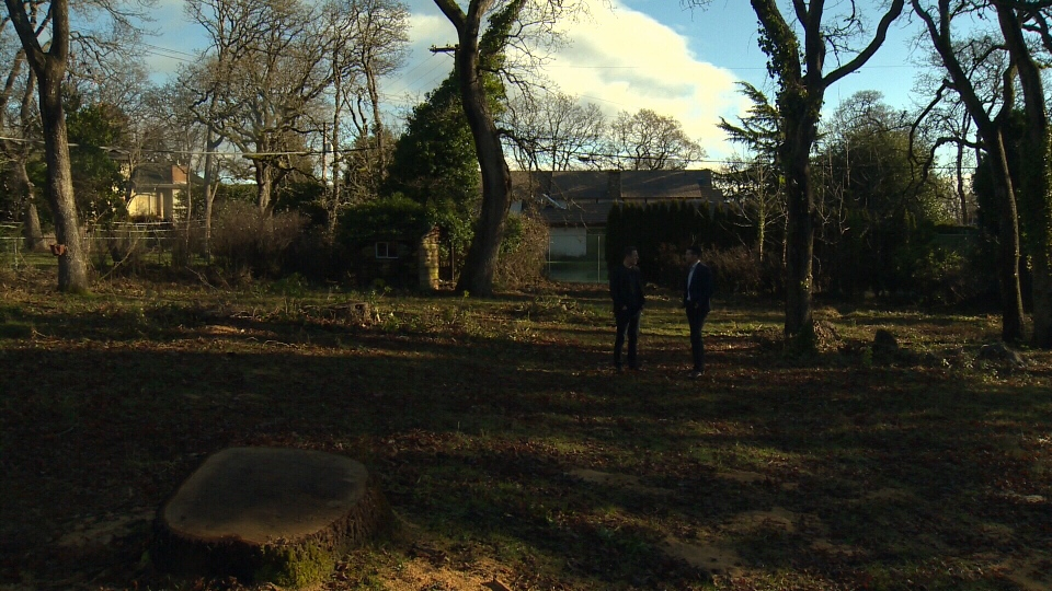 A man selling a vacant lot in an upscale Victoria neighbourhood worth $2.5-million could make Canadian history if he successfully sells the property for Bitcoin. Jan. 10, 2017. (CTV Vancouver Island)