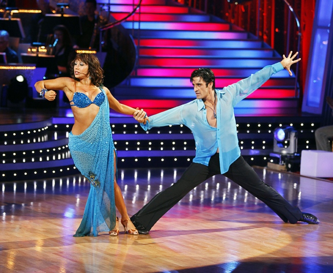 Cheryl Burke  and Gilles Marini perform on 'Dancing with the Stars,' Monday, May 4, 2009, in Los Angeles. (AP / ABC, Kelsey McNeal)
