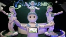 AvatarMind's iPal companion robots are displayed at CES International, Wednesday, Jan. 10, 2018, in Las Vegas. (AP Photo/Jae C. Hong)