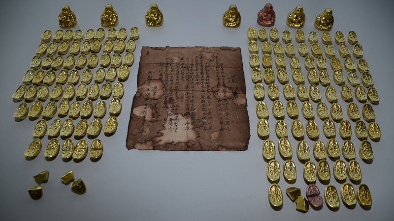 FAKE GOLD CHINESE ARTIFACTS