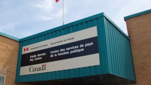 The Public Service Pay Centre is shown in Miramichi, N.B., on Wednesday, July 27, 2016. THE CANADIAN PRESS/Ron Ward