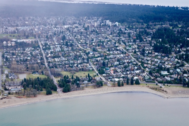 Vancouver's Spanish Banks-Kitsilano area is seen from CTV's Chopper 9, as captured by Pete Cline in January 2018.