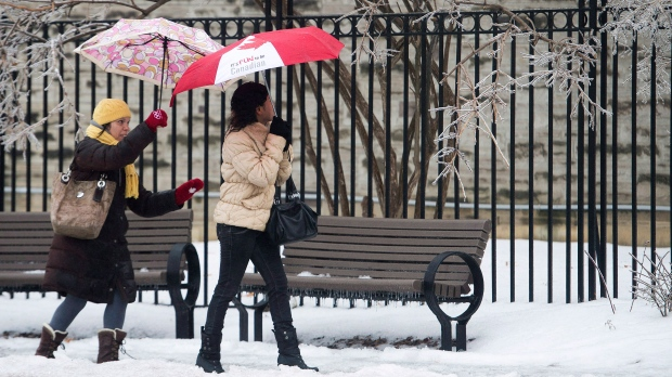 Freezing rain may lead to slippery Monday in Toronto