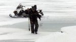 Pressure cracks on Lake Simcoe