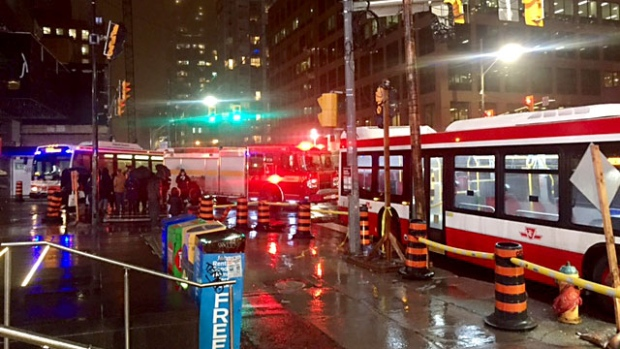 Pedestrian struck at Yonge and Eglinton