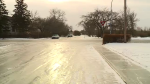 Coping with icy conditions in Regina