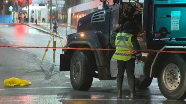 Woman hit downtown