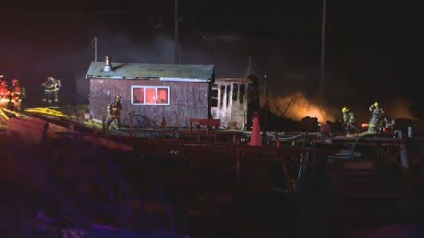 boathouse destroyed by fire