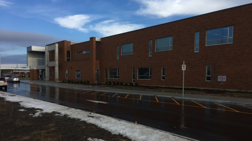 The new St. Teresa of Calcutta Catholic Elementary School in Windsor opened in January and it's already too small for all of its students. (Chris Campbell / CTV Windsor)