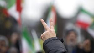 Demonstrators at EU headquarters