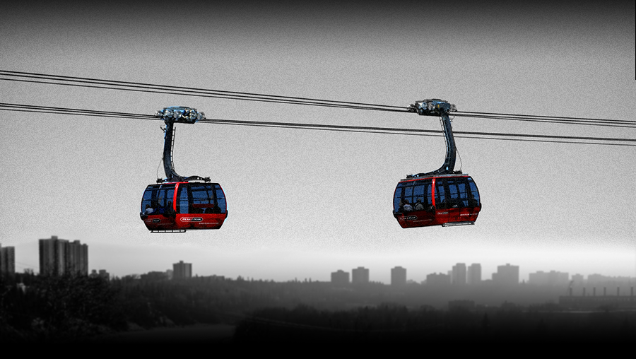 Gondola over the North Saskatchewan River