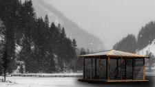 Winter River Pavilions