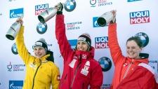 Elisabeth Vathje of Canada celebrates