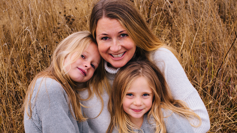 Sisters Chloe and Aubrey Berry are pictured with their mother, Sarah Cotton. (Ryan MacDonald Photography)