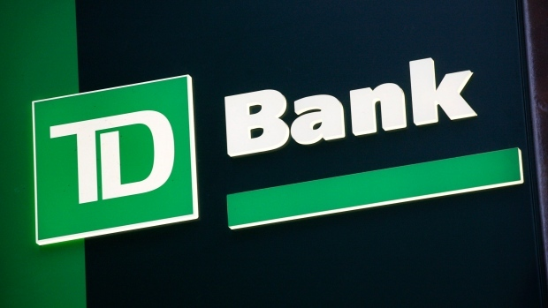 A sign for TD Bank is shown in this Nov. 12, 2009 file photo. (AP Photo/Mark Lennihan, file)