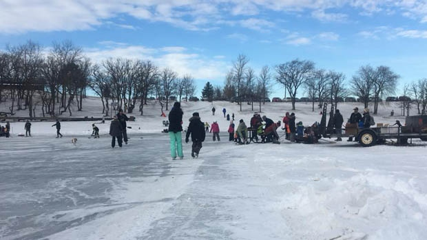 Source: Henry Wiebe/Morden Lake Skating Trail Facebook group