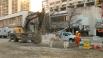 Water main break shuts downtown library