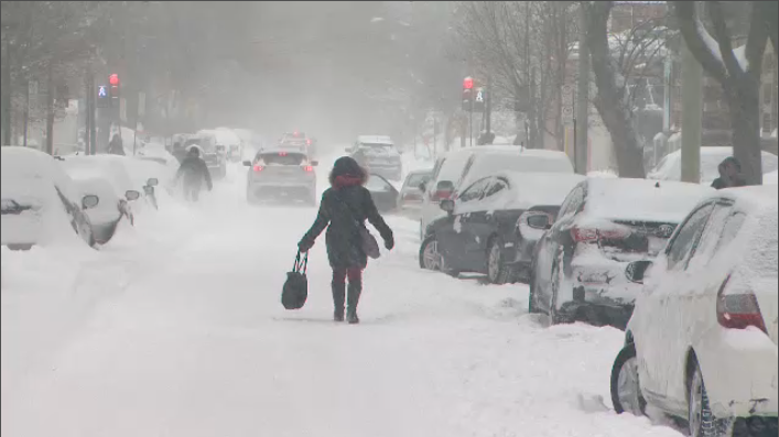 A winter storm left 20 centimetres of snow on Montreal's roads on Jan. 13, 2018.