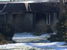 A home on Richmond Street damaged by fire
