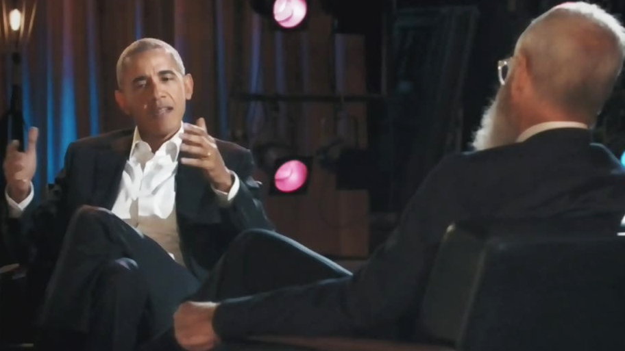 Barack Obama on David Letterman's new Netflix show. (Netflix)