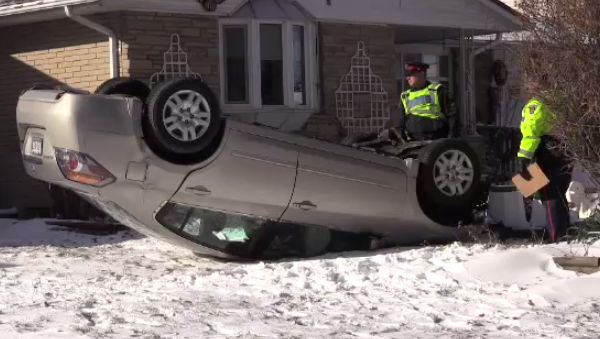 midland kitchener crash car house