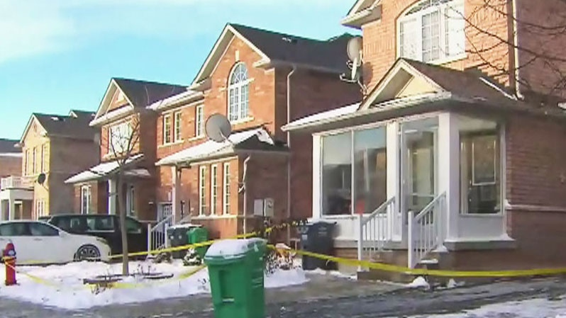 A police force west of Toronto says its first three homicide victims of the year all died within the same night in two unrelated domestic incidents.