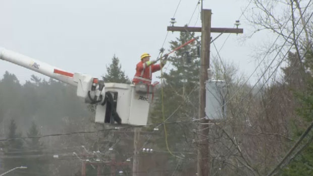 More than 20,000 Maritimers were without power on Saturday morning. By around 5:30 p.m., Nova Scotia Power said electricity around 1,500 customers had been affected by outages.