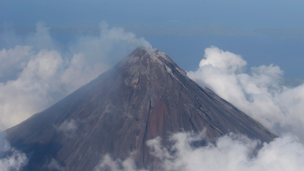 Volcano eruptions in Philippines spews ash, volcano alert level raised