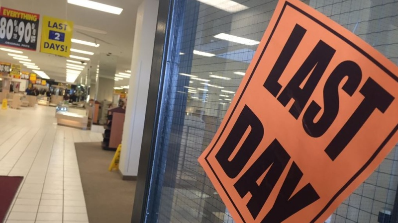 The Sears store in Windsor closes its doors for good.