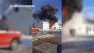 Fire burns in Vonda auto shop