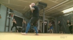 Beginners learn self-defence through Krav Maga