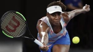 Venus Williams at the Australian Open tennis championships on Jan. 15, 2018. (Vincent Thian / AP)