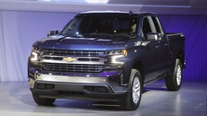 The 2019 Chevrolet Silverado High Country pickup is unveiled in Detroit, on Jan. 13, 2018. (Carlos Osorio / AP)