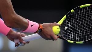 Rafael Nadal at the Australian Open tennis championships, on Jan. 15, 2018. (Vincent Thian / AP)