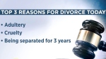 Reasons people get divorced are a lot different