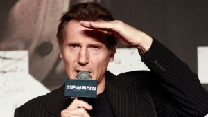 In this Wednesday, July 13, 2016 file photo, Irish actor Liam Neeson speaks during a press conference to promote his new film 'Operation Chromite' in Seoul, South Korea. (AP Photo/Ahn Young-joon, File)