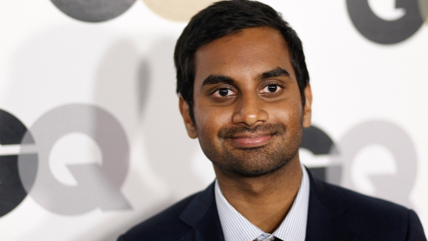 "Aziz Ansari arrives at the 16th annual GQ ""Men of the Year"" party in Los Angeles, Nov. 17, 2011 (AP Photo / Matt Sayles)"