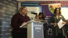 Health Minister Sarah Hoffman speaks at the Sturgeon Community Hospital Monday, January 15, 2018.