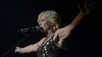 Dolores O'Riordan of 'The Cranberries' performs in Barcelona, Spain, on Oct. 4, 2012. (Manu Fernandez / AP)