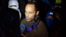 In this July 13, 2017 file photo, Oscar Perez speaks to the press at a night vigil to honor the more than 90 people killed during three months of anti-government protests, in Caracas, Venezuela. (Miguel Rodriguez/AP Photo)